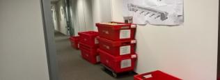 Kantoorverhuizing uitgevoerd door UTS Van der Lee/Cors de Jongh met verhuismateriaal van Roldo Rent